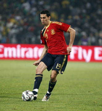 �lvaro Arbeloa, en un partido con la selecci�n espa�ola.