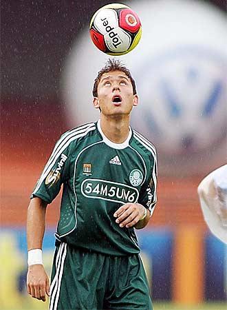 Keirrison, durante un paltirdo con el Palmeiras