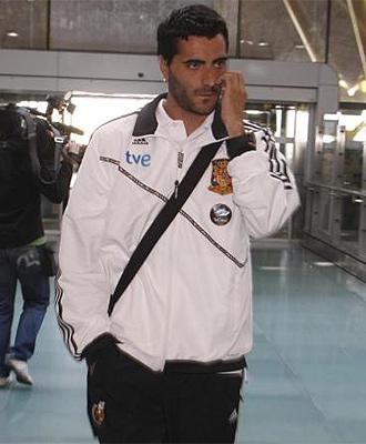 Dani G�iza, en el aeropuerto.