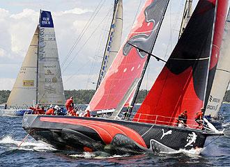 El Puma americano sigue al frente de la d�cima etapa de la Volvo Ocean Race pero con los dos Telef�nicas muy cerca