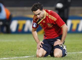 Xavi, durante un partido de la Copa Confederaciones