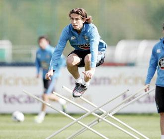 El brasileño, en un entrenamiento