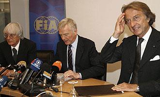 Ecclestone, Mosley y Montezemolo en la �ltima reuni�n en la que se firm� la paz moment�nea en la F�rmula 1