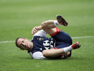 Frank Ribéry, en un entrenamiento con la selección francesa.