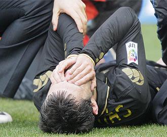Antonio Tomás, lesionado esta temporada.