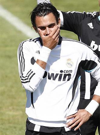 Codina, durante un entrenamiento del Real Madrid