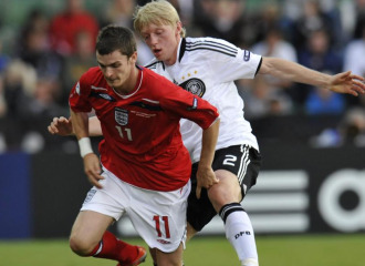 Adam Johnson, con Inglaterra