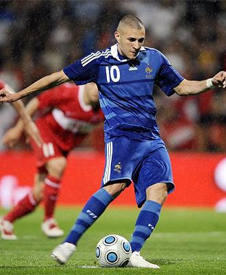 Karim Benzema, durante un partido con la selecci�n francesa