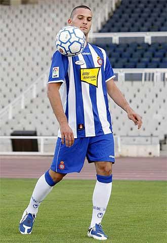 Ben Sahar durante su presentación como jugador del Espanyol.