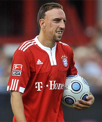 Ribéry, durante un partido del Bayern