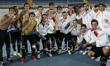 Los españoles, con sus medallas
