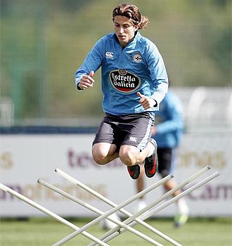 Filipe Luis, durante un entrenamiento.