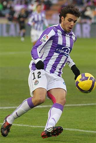 Pedro León, en nu partido con el Valladolid.