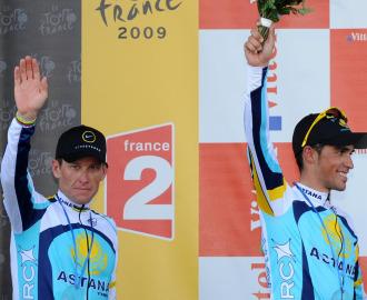 Lance Armstrong y Alberto Contador.