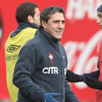 Pepe Murcia durante un entrenamiento con el Celta
