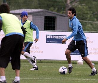 El centrocampista, en un entrenamiento