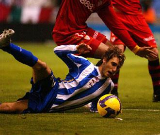 Piscu, en un partido de la temporada 2008-09
