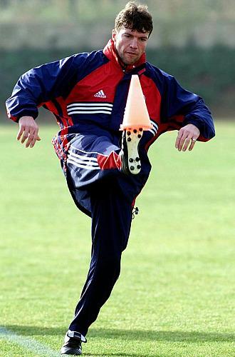 Lothar Matthäus, durante un entrenamiento.