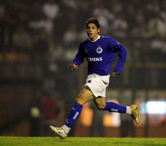 El delantero, durante su época con el Cruzeiro