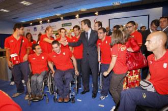 José Luis Rodríguez Zapatero, con los deportistas paralímpicos.