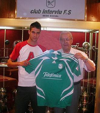 Hugo junto a Pascual Saor�n, presidente del Inter Movistar