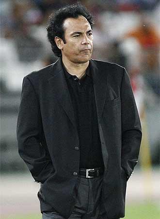 Hugo Sánchez durante un partido frente al Espanyol.
