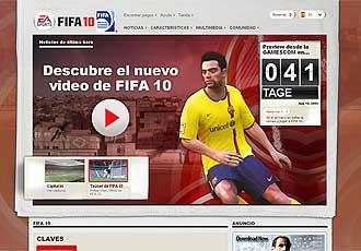 Imagen de Xavi Hernández en la web de EA Sports.