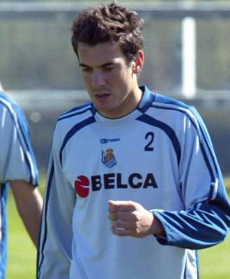 Xabi Castillo, jugador de la Real Sociedad.