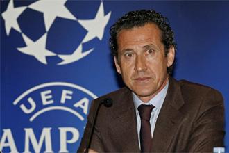 Jorge Valdano en rueda de prensa.