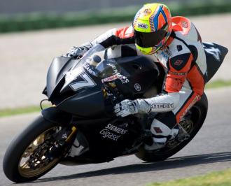 Roberto Rolfo, en Valencia con la Moto2.