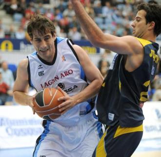 David Doblas, con la camiseta del Gipuzkoa Basket