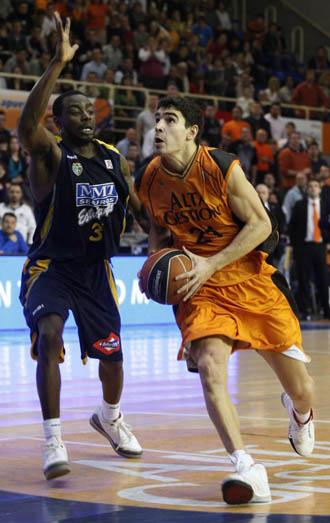 Saúl Blanco, en un partido contra el MMT Estudiantes