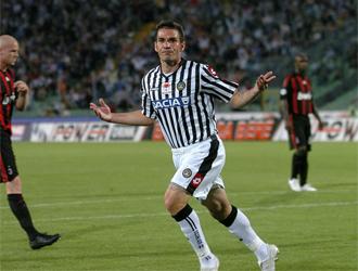 D'Agostino celebra un gol con el Udinese