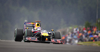 Webber durante la sesión de clasificación del GP de Alemania