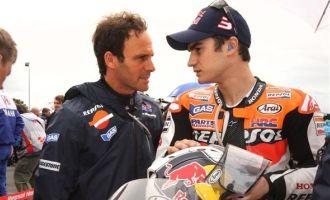 Alberto Puig, junto a Dani Pedrosa en Le Mans