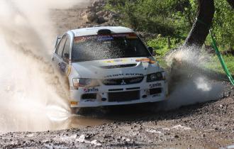 Xevi Pons, durante un tramo del Rally.