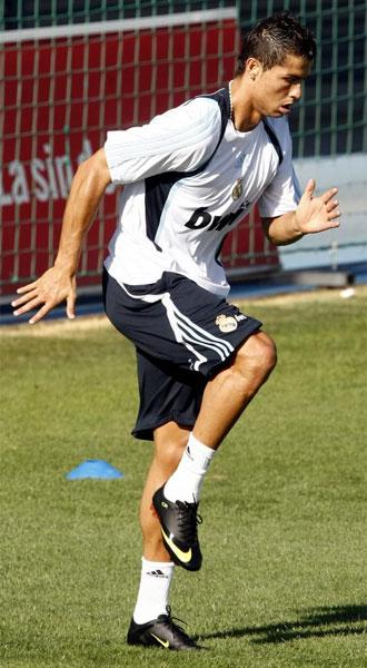 Cristiano Ronaldo, en un entrenamiento.