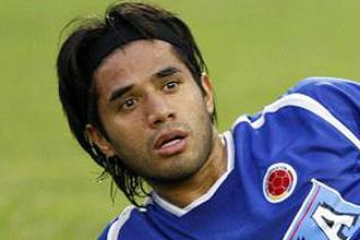 Vargas durante un entrenamiento con la selección colombiana
