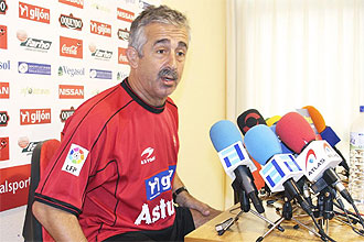 Manolo Preciado, durante una rueda de prensa la pasada temporada.