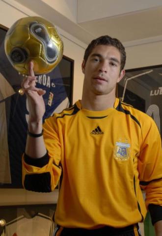 Carrizo, con la camiseta de la selección argentina.