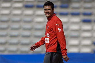 Pablo Siiclia se retira a los vestuarios tras un entrenamiento del Tenerife la temporada pasada.