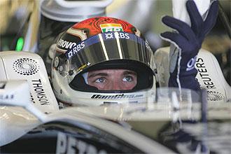 El piloto espa�ol Dani Clos, en unos entrenamiento de F�rmula 1 con Williams.