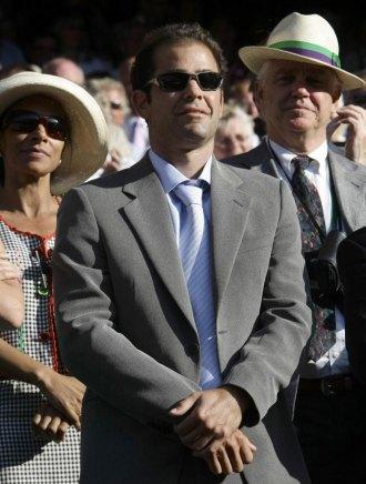 Pete Sampras, durante la pasada final de Wimbledon.