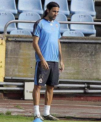 Juan Rodríguez durante un entrenamiento.