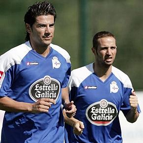 Riki y Pablo Álvarez durante un entrenamiento
