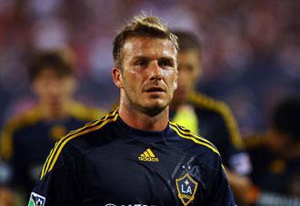 David Beckham, jugador de Los Ángeles Galaxy