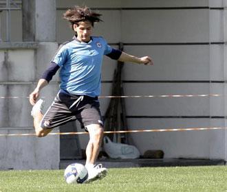 El portugués, en pleno entrenamiento