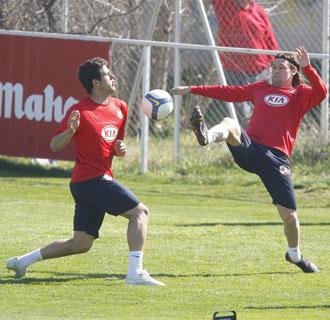 El portugués, en un entrenamiento