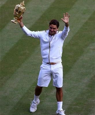 Federer, en la cumbre.
