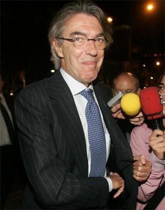 Moratti, tras la reunión que mantuvo con Laporta en Barcelona el mes de junio.